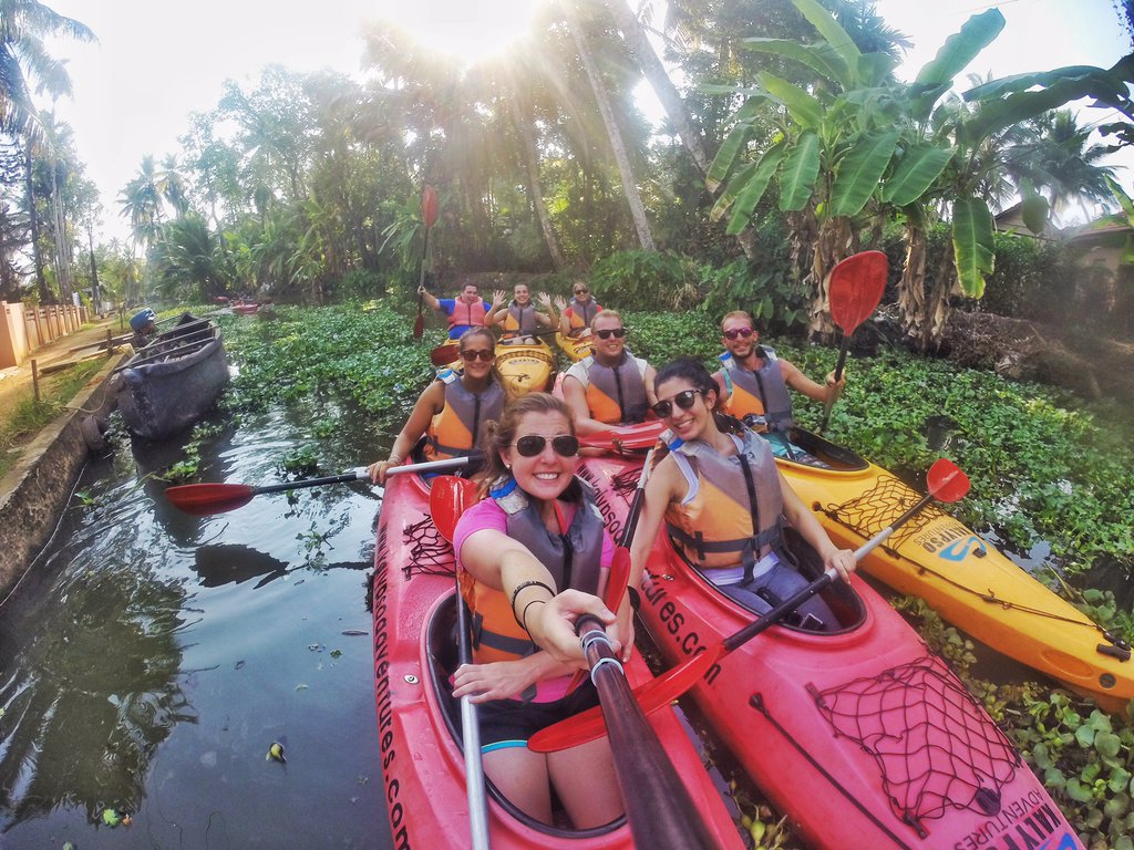 Kerala Backwater Kayaking. Photo: Brittany Kulick / The Sweet Wanderlust