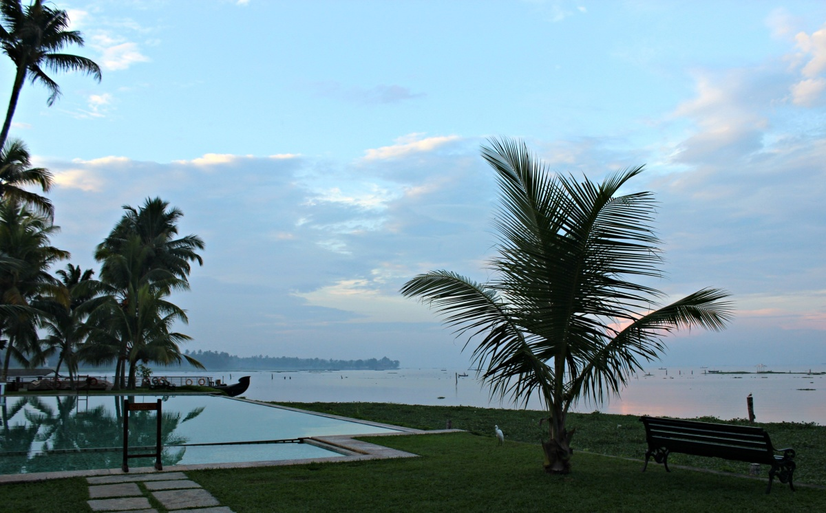 Morning views from Kumarakom Lake Resort