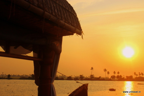 Sunsets from Spice Routes Houseboat on Alleppey Backwaters, Kerala