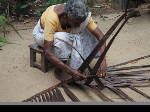 WEAVING THATCHING FOR ROOFS.