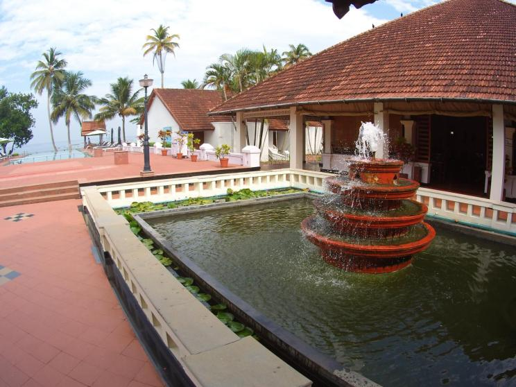 Dream view from the entrance hall at Abad Lake Resort in Kumarakom